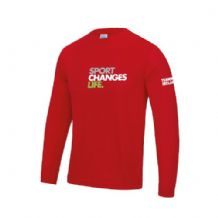 Sport Changes Life Long Sleeve Cool Tee - Adults (Choice of Colours)